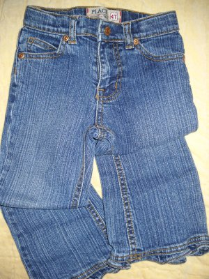 The Children�s Place Ruffle Flair Jeans Girls 4T (HC)