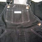 Baby Gap Black Fleece Lined Overalls Adjustable Straps Size 24 Months (HC25)