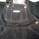 Baby Gap Black Fleece Lined Overalls Adjustable Straps Size 24 Months (HC25)