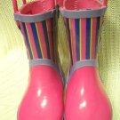 Pink Purple Girls Toddler Rubber Rain Boot Size 7 by Rainpal Boots (HC27)