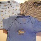 Carters Newborn BOY Onesie's Set of 3 (HC19)