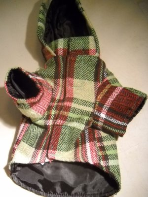East Side Collection Stylish Herringbone Plaid Dog Jacket  XXS (HC19)