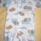 Carter's One Piece Preemie Boys Snap Sleeper Assorted Zoo Animal Print (HC19)