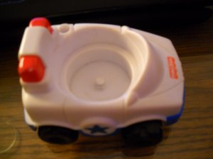 Fisher Price Mattel Little People Replacement  Police Car Hard To Find 2000 (HC43)