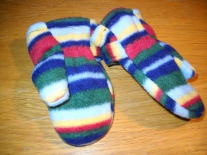 Baby Gap Fleece Lined Mittens Size 0/6 Months (HC)