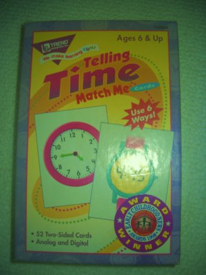 Telling Time Flash Cards Six Ways to Play by Trend