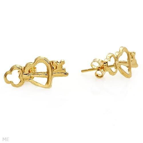 Attractive Heart Lock Earings