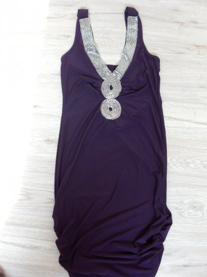 Classy Purple Chrome Sexy Club Dress(B2-0001)