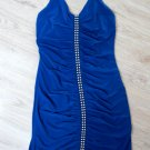 Super Sexy Sleeveless Blue Zipper Cocktail Dress (B2-0003)