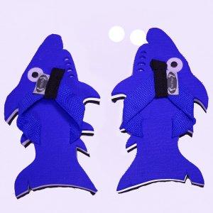 Blue Shark Kid Flops - XSmall
