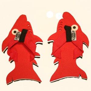 Red Shark Kid Flops - Small