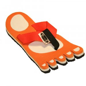 Orange Feet Fiesta Flops - Large