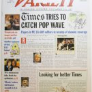 """Variety: March 25 - 31, 2002 """"Times Tries to Catch Pop Wave"""""""