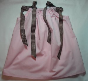 Custom Boutique Pink and Chocolate Pillowcase Dress