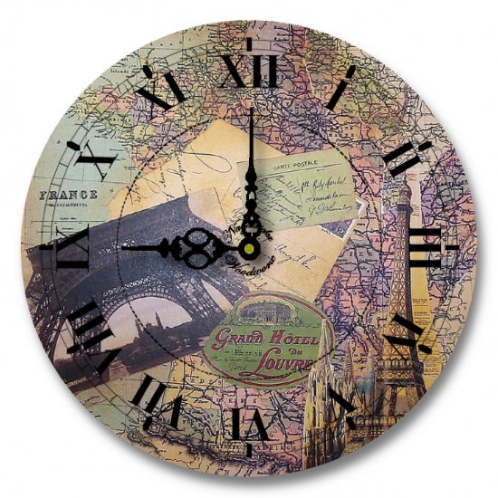 "12"" Decorative Wall Clock (Paris and the Grand)"