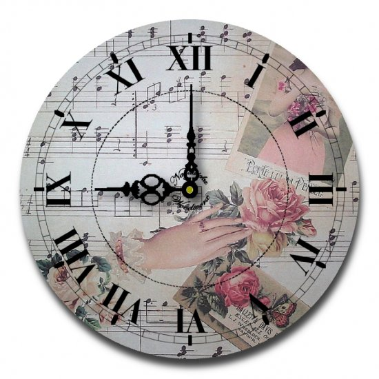 "12"" Decorative Wall Clock (Romantic Music)"