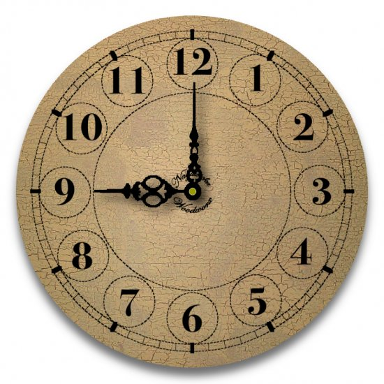 "12"" Decorative Wall Clock (Crackle)"