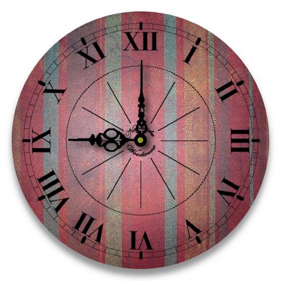 """12"""" Decorative Wall Clock (Stripes)"""