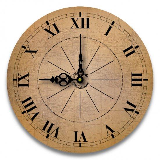 "12"" Decorative Wall Clock (World Traveler)"