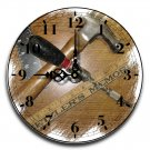 "12"" Decorative Wall Clock (The Woodworker)"