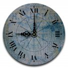 "12"" Decorative Wall Clock (Blue Chocolate)"