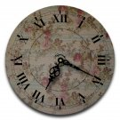 "12"" Decorative Wall Clock (Floral Elegance)"