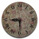 "12"" Decorative Wall Clock (Floral Pewter)"
