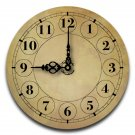 "12"" Decorative Wall Clock (Gold Tone)"