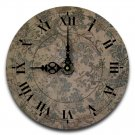 "12"" Decorative Wall Clock (Green Floral)"