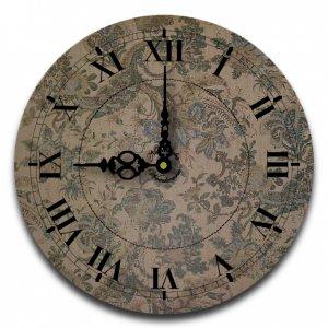 "12"" Decorative Wall Clock (Green Floral)"