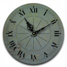 "12"" Decorative Wall Clock (Note on Blue)"