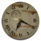 "12"" Decorative Wall Clock (Travel Log)."