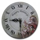 "12"" Decorative Wall Clock (Old St. Nick)"