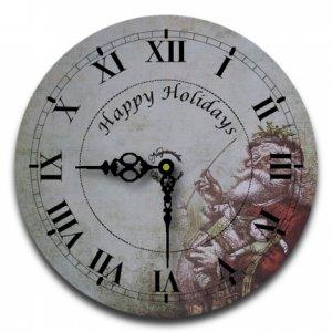 "12"" Decorative Wall Clock (Old St. Nick)"