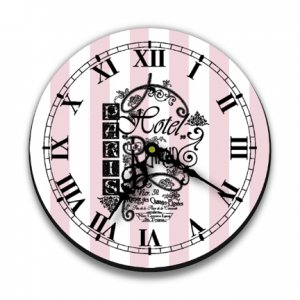 """12"""" French Graphic Wall Clock"""