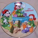 "1993 Mickey, Goofy and Donald Duck ""Santa Workshop"" Plate"