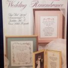 Cross Stitch Leaflet - Wedding Remembrance