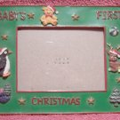 Baby's First (1st) Christmas Photo Frame