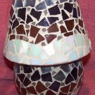 HOME INTERIOR 2 Pc. MOSAIC BREEZE SHADE & CANDLE HOLDER