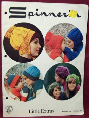 Little Extras - Spinnerin ~ Knit and Crochet Hat, Mittens, Muff, Dickey and Scarf Patterns