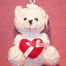 White Bear W/Red Velvet Heart - For Valentine's Day, Easter Basket or Mother's Day Gift! NEW