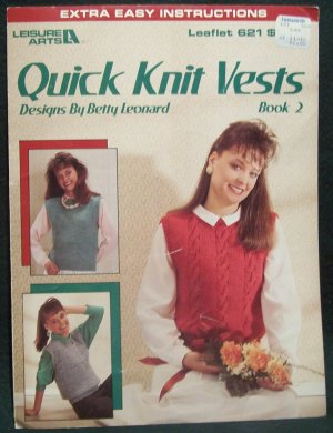 Quick Knit Vests - Extra Easy Instructions - Book 2