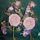 Set of 2 Velvet Rose Sprays ~ 30% Off! Home Interiors ~ NEW