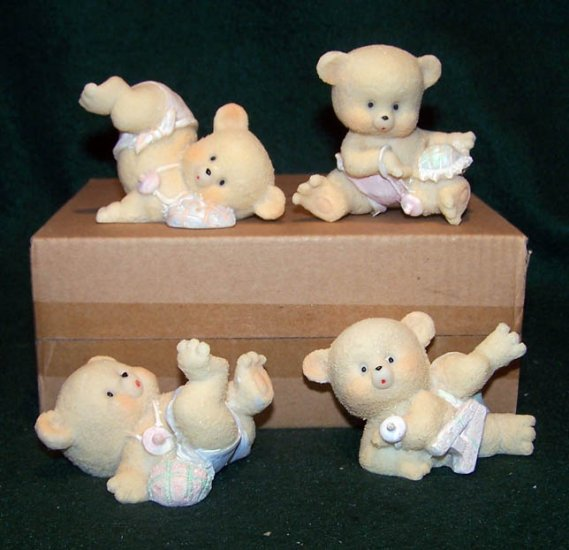 Bouncing Baby Bears Figurines ~ Home Interiors & Gifts � Set of 4