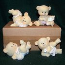 Bouncing Baby Bears Figurines ~ Home Interiors & Gifts – Set of 4