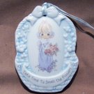 PRECIOUS MOMENTS &#39;95 TAKE TIME TO SMELL FLOWERS ORNAMENT