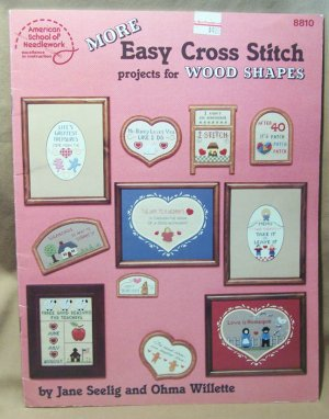 More Easy Cross Stitch Projects for Wood Shapes � American School of Needlework