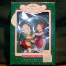 Vintage HALLMARK 1988 KEEPSAKE CHRISTMAS ORNAMENT ~ SHALL WE DANCE - SANTA AND MRS. SANTA