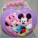 """Mickey & Minnie """"The Perfect Pair"""" Heart Shape Porcelain Flower Vase/Candy Dish Collectible/ Disney"""