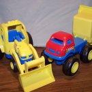Tonka Plastic Dump Truck and Tractor/Loader